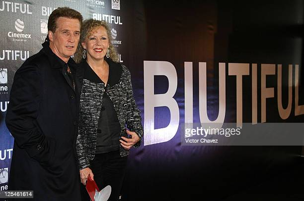 Singer Emanuel and Mercedes Aleman attends the Mexico City Premiere of Biutful at Cinemex Antara Polanco on October 18 2010 in Mexico City Mexico