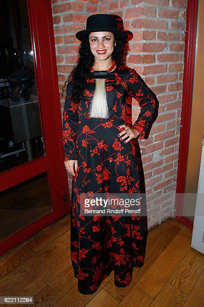 Singer Emel Mathlouthi attends the Carla Sozzani Photo Exhibition at Azzedine Alaia Gallery on November 9 2016 in Paris France