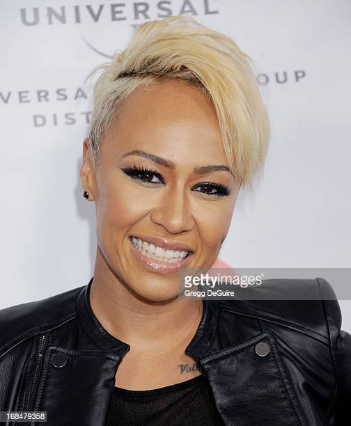 Singer Emeli Sande arrives at the NARM Music Biz Awards dinner party at the Hyatt Regency Century Plaza on May 9 2013 in Century City California