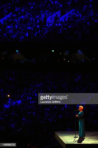 Singer Emeli Sande of Scotland performs Abide With Me during the Opening Ceremony of the London 2012 Olympic Games at the Olympic Stadium on July 27...