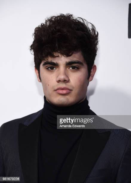 Singer Emery Kelly arrives at the 'Love Simon' special screening and performance at Westfield Century City on March 13 2018 in Century City California