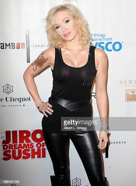 Singer Emilly Morrison arrives for the Bamboo Izakaya Restaurant Grand Opening on May 9 2013 in Santa Monica California