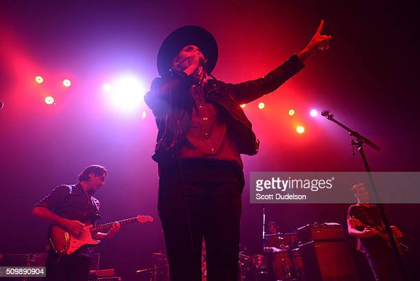 Singer Emily Armstrong of Dead Sara performs onstage at The Fonda Theatre on February 9 2016 in Los Angeles California