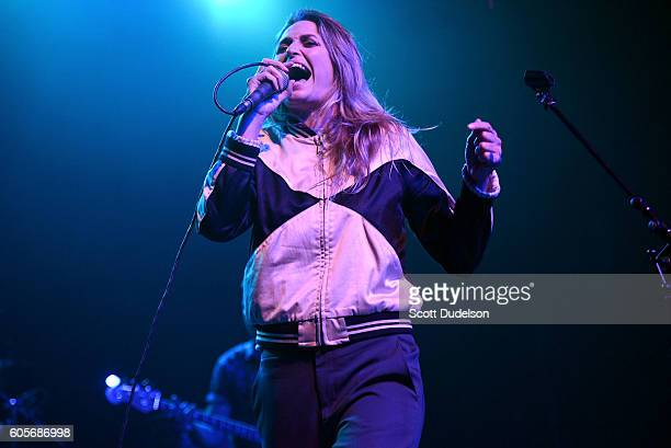 Singer Emily Armstrong of the band Dead Sara performs onstage during Petty Fest 2016 at The Fonda Theatre on September 13 2016 in Los Angeles...
