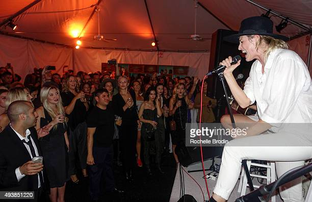 Singer Emily Armstrong performs on stage at Metallic Life by Brian Bowen Smith brought to you by CASAMIGOS Tequila at De Re Gallery on October 22...