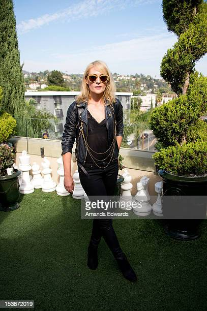 Singer Emily Haines of the band Metric poses after performing onstage at the 987FM Party Penthouse at The Historic Hollywood Tower on October 9 2012...