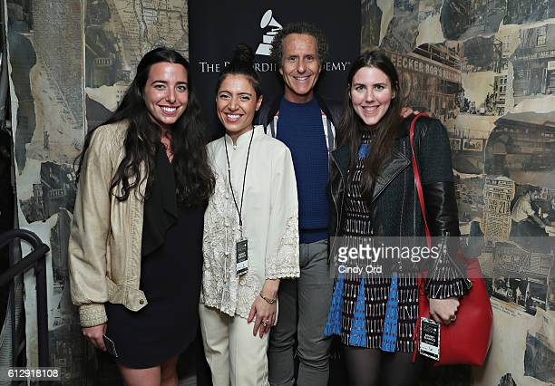 Singer Emily King and Glassnote Entertainment Group founder Daniel Glass attend 'Up Close Personal with Benny Blanco' at Subculture NYC on October 5...