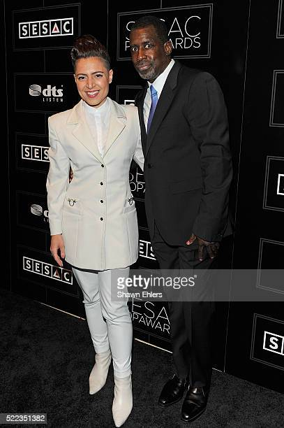 Singer Emily King and Senior Vice President of Writer/Publisher Relations at SESAC Trevor Gale attend the 2016 SESAC Pop Music Awards on April 18...
