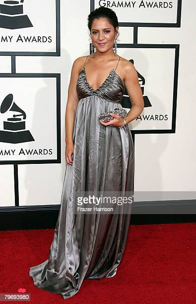 Singer Emily King arrives at the 50th annual Grammy awards held at the Staples Center on February 10 2008 in Los Angeles California