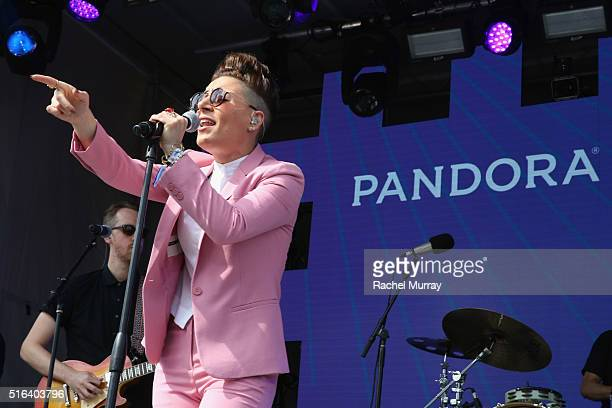 Singer Emily King performs onstage during the PANDORA Discovery Den SXSW on March 18 2016 in Austin Texas