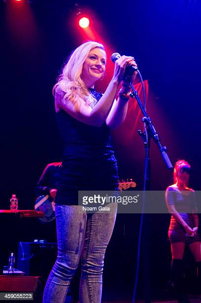 Singer Emily Kinney performs at the Gramercy Theatre on December 22 2013 in New York City
