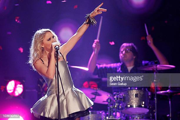 Singer Emily Osment performs at The Dome 55 on August 27 2010 in Hannover Germany