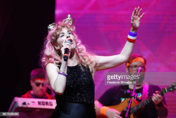 Singer Emily West Performs Onstage During Nashville 80s Dance Party Benefiting The Alzheimers Association At