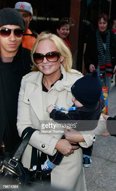 Singer Emma Baby Spice Bunton sighting shopping at the GUCCI store on 5th Avenue with son Beau Lee Jones and partner Jade Jones on February 08 2008...