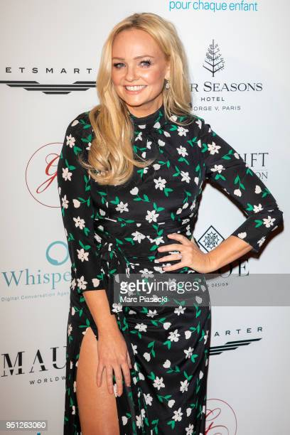 Singer Emma Bunton attends the Global Gift Gala at Four Seasons Hotel George V on April 25 2018 in Paris France