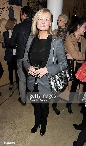 Singer Emma Bunton attends the switchingon of the Stella McCartney Bruton Street Store Christmas lights on November 29 2011 in London England