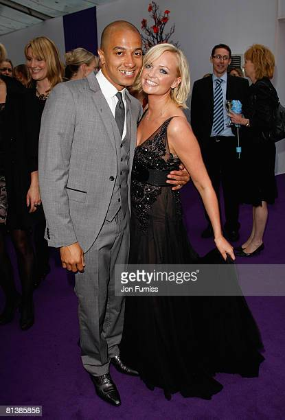 Singer Emma Bunton with partner Jade Jones attends the Glamour Women Of The Year Awards held at Berkeley Square Gardens on June 3 2008 in London...