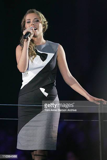 Singer Emma Daumas performs on stage during the Les Victoires de la Musique at the Le Zenith on February 28 2009 in Paris France