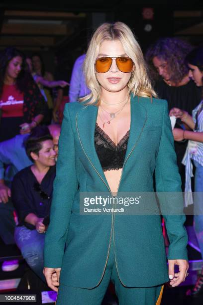 Singer Emma Marrone attends Tezenis show on July 24 2018 in Verona Italy