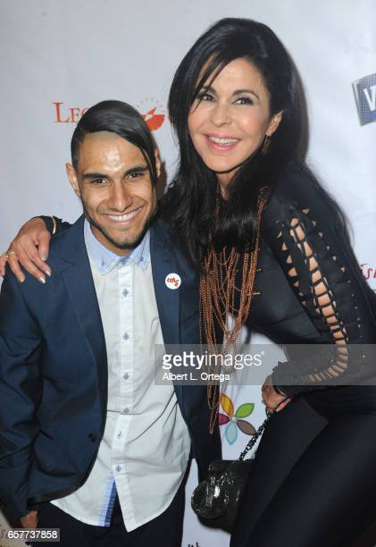Singer Emmanuel Kelly and actress Maria Conchita Alonso arrive for the Whispers From Children's Hearts Foundation's 3rd Legacy Charity Gala held at...
