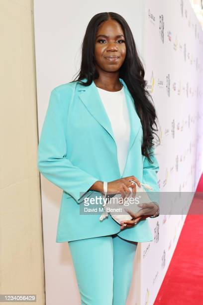 Singer Emmy arrives at the South Bank Sky Arts awards at The Savoy Hotel on July 19, 2021 in London, England. The South Bank Sky Arts Awards will air...