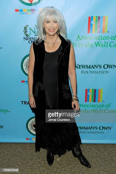 Singer Emmylou Harris attends the celebration of Paul Newman's Hole in the Wall Camps at Avery Fisher Hall Lincoln Center on October 21 2010 in New...