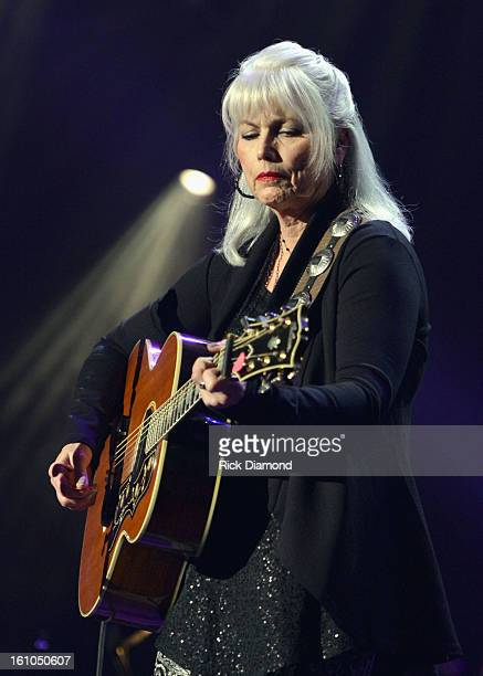 Singer Emmylou Harris performs onstage at MusiCares Person Of The Year Honoring Bruce Springsteen at the Los Angeles Convention Center on February 8,...