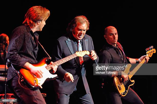 Singer Englebert Humperdinck performs at Saban Theatre on February 16 2014 in Beverly Hills California