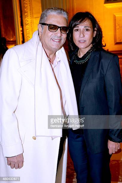Singer Enrico Macias and his daughter Jocya Ghrenassia attend PasteurWeizmann Gala at Chateau de Versailles on November 18 2013 in Versailles France