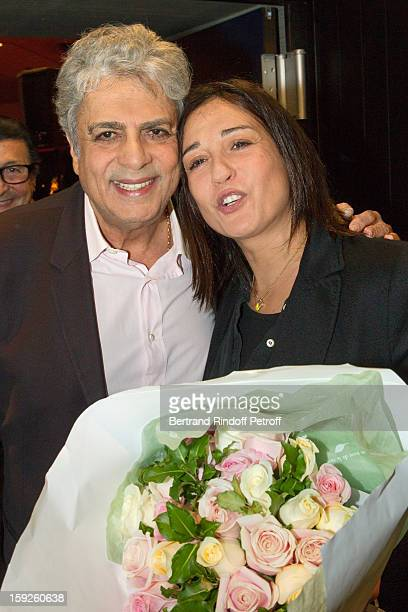 Singer Enrico Macias and his daughter Jocya Ghrenassia who turned 50 on January 10 attend the screening of 'Enrico Macias la vie en chansons' a...
