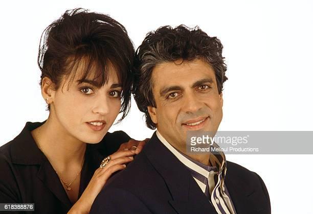 Singer Enrico Macias and His Daughter Jocya