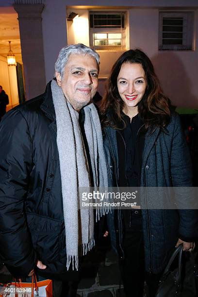 Singer Enrico Macias and Writer Eliette Abecassis attend the Sarah Guetta Party in Paris for the first anniversary of the Hairdressing salon Sarah...