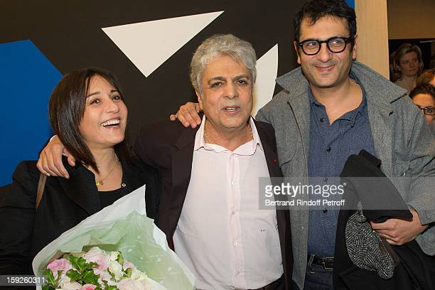 Singer Enrico Macias , his daughter Jocya Ghrenassia , who turned 50 on January 10, and his son Jean-Claude Ghrenassia attend the screening of...