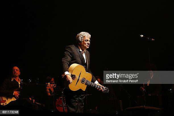 Singer Enrico Macias performs at L'Olympia on January 7 2017 in Paris France