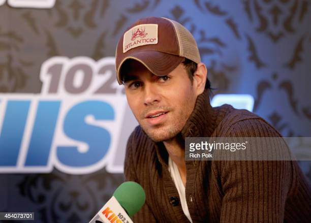 Singer Enrique Iglesias attends KIIS FM's Jingle Ball 2013 at Staples Center on December 6 2013 in Los Angeles CA