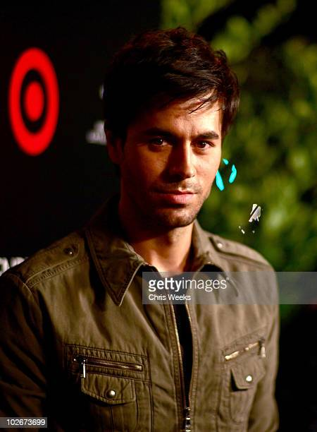 Singer Enrique Iglesias attends Target's celebration of Enrique Iglesias' exclusive deluxe version of Euphoria at My House on July 6 2010 in...