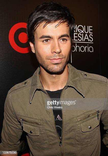 Singer Enrique Iglesias attends Target's celebration of Enrique Iglesias' exclusive deluxe version of 'Euphoria' at My House on July 6 2010 in...