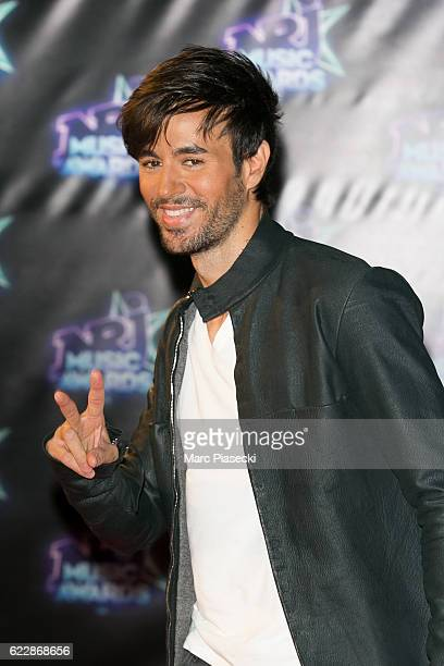 Singer Enrique Iglesias attends the 18th NRJ Music Awards at Palais des Festivals on November 12 2016 in Cannes France