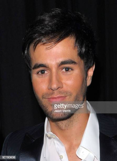 Singer Enrique Iglesias attends the 2009 Person of the Year honoring Juan Gabriel held at Mandalay Bay Resort Casino on November 4 2009 in Las Vegas...