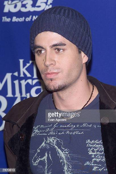 Singer Enrique Iglesias backstage at 'KTU's Miracle On 34th Street' holiday concert at Madison Square Garden in New York City. . Photo: Evan...