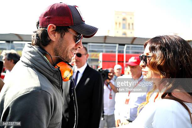 Singer Enrique Iglesias on the grid before the European Formula One Grand Prix at Baku City Circuit on June 19 2016 in Baku Azerbaijan