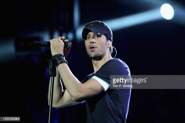 Singer Enrique Iglesias performs on stage during MTV Live Georgia at Europe Square on August 2 2011 in Batumi Georgia