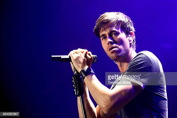 Singer Enrique Iglesias performs onstage during KIIS FMs Jingle Ball 2013 at Staples Center on December 6, 2013 in Los Angeles, California.