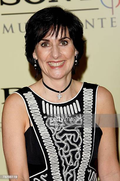 Singer Enya arrives at the Sony/BMG Grammy party held at the Beverly Hills Hotel on February 11 2007 in Beverly Hills California