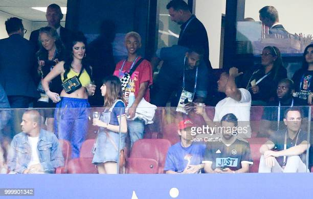 Singer Era Istrefi Jaden Smith Will Smith during the 2018 FIFA World Cup Russia Final match between France and Croatia at Luzhniki Stadium on July 15...