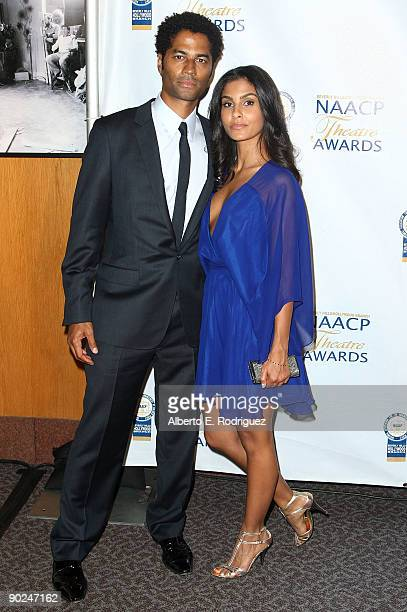 Singer Eric Benet and Manuela Testolini arrive at the 19th NAACP Theatre Awards held at the DGA theater on August 31 2009 in West Hollywood California