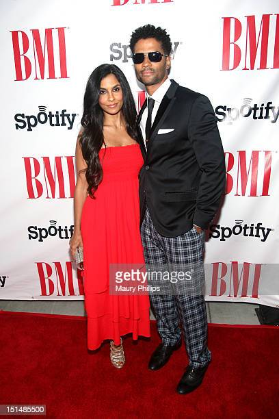 Singer Eric Benet and Manuela Testolini arrive at the 2012 BMI Urban Awards honoring Mariah Carey at the Saban Theatre on September 7 2012 in Beverly...