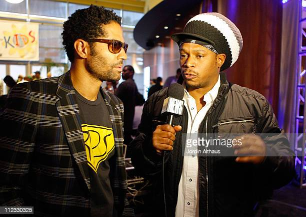 Singer Eric Benet and TV Personality Sway Calloway attend the 51st Annual GRAMMY Awards Westwood One Radio Remotes Day 1 held at the Staples Center...