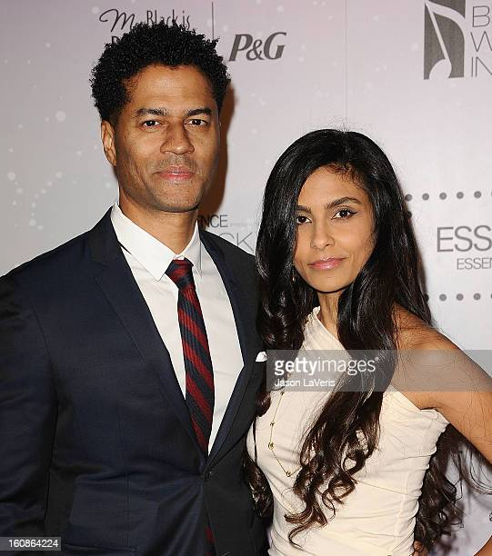Singer Eric Benet and wife Manuela Testolini attend the 4th annual ESSENCE Black Women In Music event at Greystone Manor Supperclub on February 6...