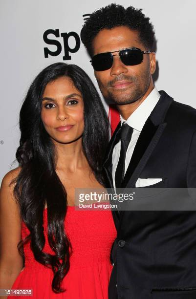 Singer Eric Benet and wife Manuela Testolini attends the 12th Annual BMI Urban Awards at the Saban Theatre on September 7 2012 in Beverly Hills...